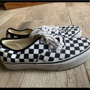 Black and White checkered Authentic Vans